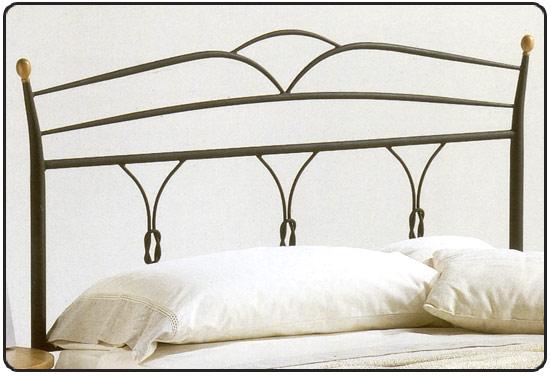 Testate da letto 1 piazza e mezzo in ferro letti e materassi for Letto 1 piazza e mezzo